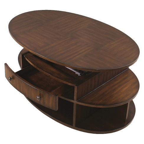 Metropolitan Coffee Table Lift Top With Casters Dark Cherry Birch Progressive Furniture Target