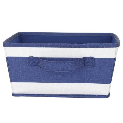 Small Striped Fabric Toy Storage Bin Navy - Pillowfort™