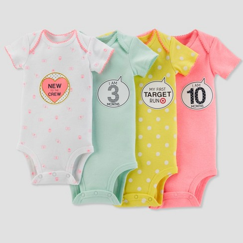 Baby Girls' Bodysuit and Sticker Pack Set - Just One You® made by carter's Mint 0-12M - image 1 of 1