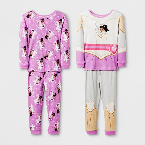 5198403a2 Toddler Girls  Nella The Princess Knight 4pc Pajama Set - Grey 4T ...