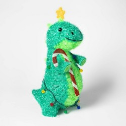 Lit Christmas Tinsel Dinosaur Novelty Sculpture - Wondershop™