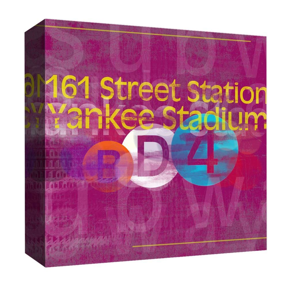 "Image of ""161 Street Station Decorative Canvas Wall Art 16""""x16"""" - PTM Images"""