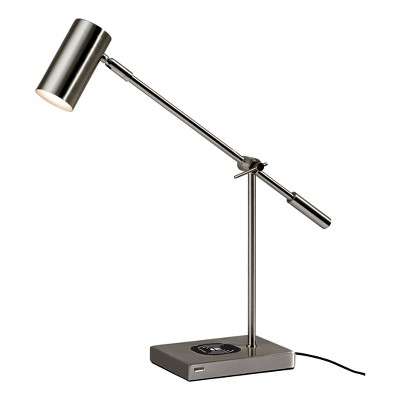 Collette LED Desk Lamp with Qi wireless Charging Pad -Adesso