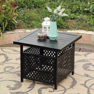 """Square Bistro Table Base Stand with 1.57"""" Hole - Captiva Designs"""