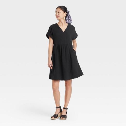 Women's Short Sleeve Shirtdress - Universal Thread™ - image 1 of 3
