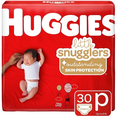 Huggies Little Snugglers Diapers Convenience Pack - Size Preemie (30ct)