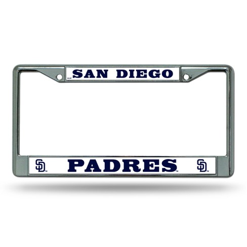 San Diego Padres Rico Industries Chrome License Plate Frame : Target