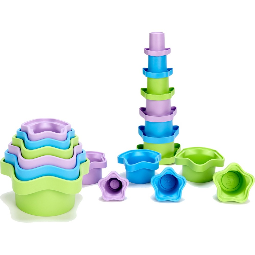 Green Toys Stacking Cups, bath toys