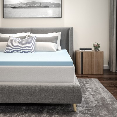 Flash Furniture Capri Comfortable Sleep 2 inch Cool Gel Memory Foam Mattress Topper