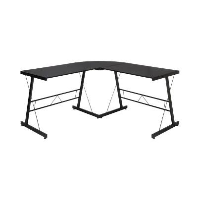 """60"""" L - Shaped Metal Frame Desk Corner Computer Desk - OFM"""