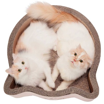 Necoichi Cat Headed Scratcher Bed - Birch