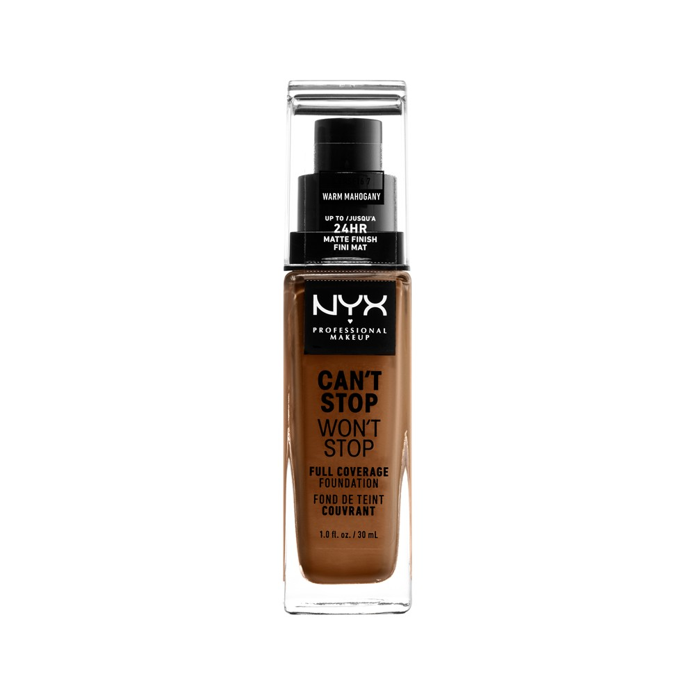 Nyx Professional Makeup Can't Stop Won't Stop Full Coverage Foundation Warm Mahogany - 1.3 fl oz