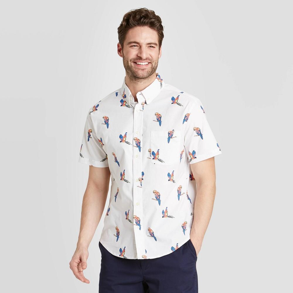 Men's Standard Fit Short Sleeve Button-Down Shirt - Goodfellow & Co Light Cream S, Light Ivory was $19.99 now $12.0 (40.0% off)