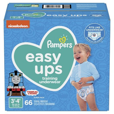 Pampers Easy Ups Boys' Training Pants Super Pack - 66ct