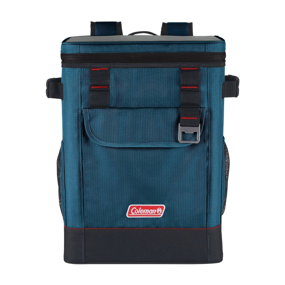 Coleman 28 Can Soft Cooler Backpack Space Blue