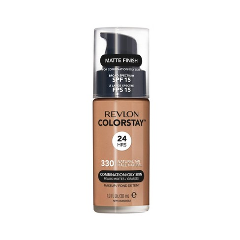 Revlon ColorStay Makeup Foundation for Combination/Oily Skin with SPF 15 Tan Shades - 1 fl oz - image 1 of 4