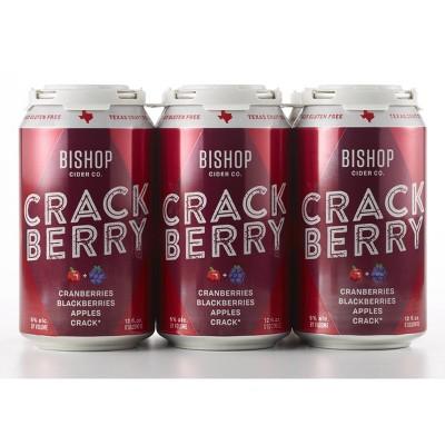 Bishop Crack Berry Hard Cider - 6pk/12 fl oz Cans