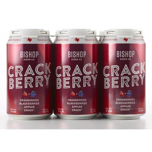 Bishop Crack Berry Hard Cider - 6pk/12 fl oz Cans - image 1 of 3