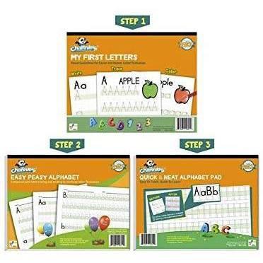 Channie's 3pk Beginner's Alphabet and Handwriting Workbooks