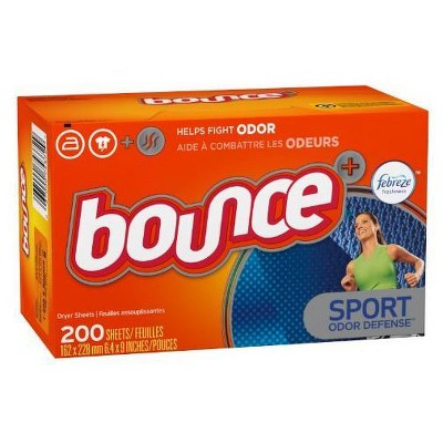 Bounce Plus Febreze Sport Odor Defence Dryer Sheets - 200ct