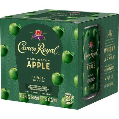 Crown Royal Washington Apple Whisky Cocktail - 4pk/12 fl oz Cans