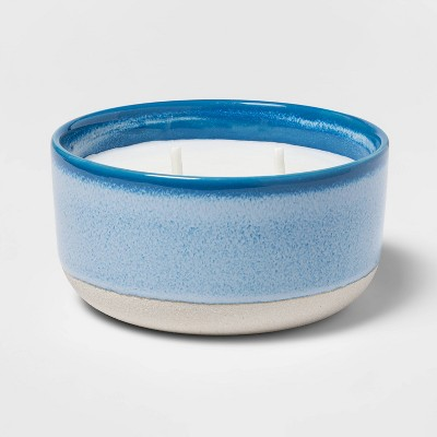 Citronella Glossy Glazed Multi-Wick Candle Blue - Threshold™