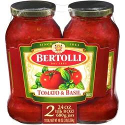 Bertolli Tomato & Basil Pasta Sauce Twin Pack - 48oz