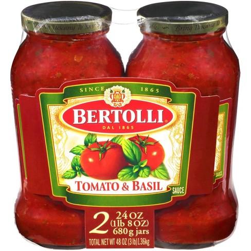 Bertolli Tomato & Basil Pasta Sauce Twin Pack - 48oz - image 1 of 4