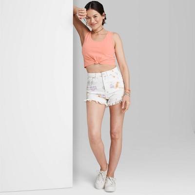 Women's Slim Fit Tie-Front Tiny Tank Top - Wild Fable™