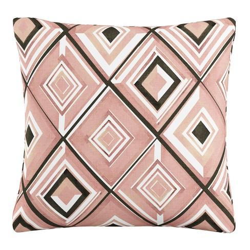 Throw Pillow Skyline Furniture Pink White Black - image 1 of 4