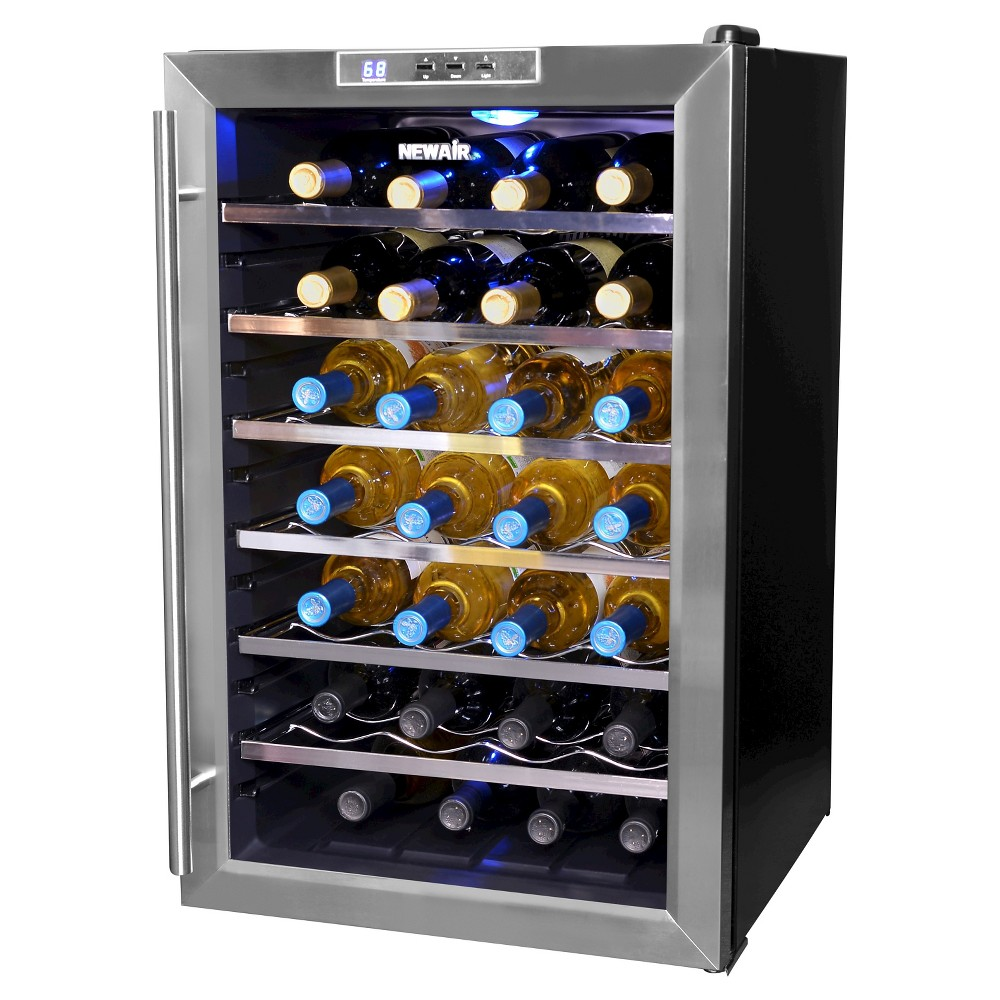NewAir Classic 28 Bottle Thermoelectric Wine Cooler – Stainless Steel (Silver) AW-281E 50149345
