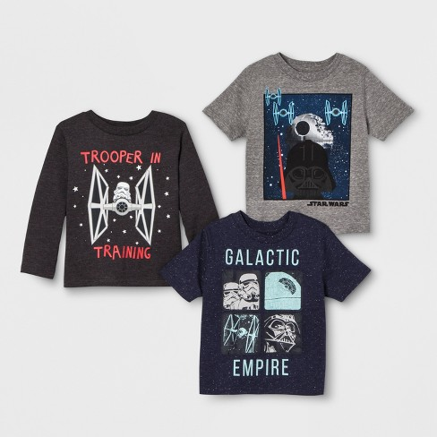 082c200010 Toddler Boys  3pk Star Wars T-Shirts - Gray Blue   Target