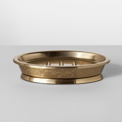 Gold Etched Metal Soap Dish Gold - Opalhouse™