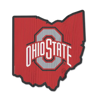 NCAA Ohio State Buckeyes Wood State Sign