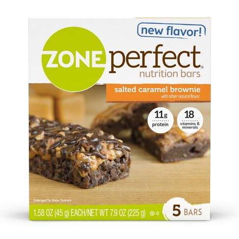 Zone Perfect Nutrition Bar Salted Caramel Brownie - 1.76oz(5pk) - image 1 of 5