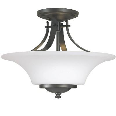 Generation Lighting Barrington 2 light Oil Rubbed Bronze Ceiling Fixture SF241OR