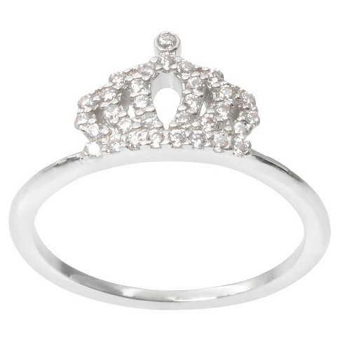 1/3 CT. T.W. Journee Collection Round Cut CZ Pave Set Regal Crown Ring in Brass - Silver - image 1 of 2