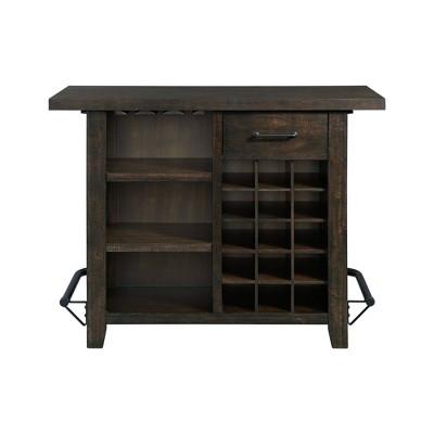 Stanford Storage Bar Smokey Walnut - Picket House Furnishings