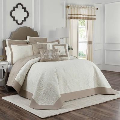 Queen Bensonhurst Bedspread Ivory - Vue