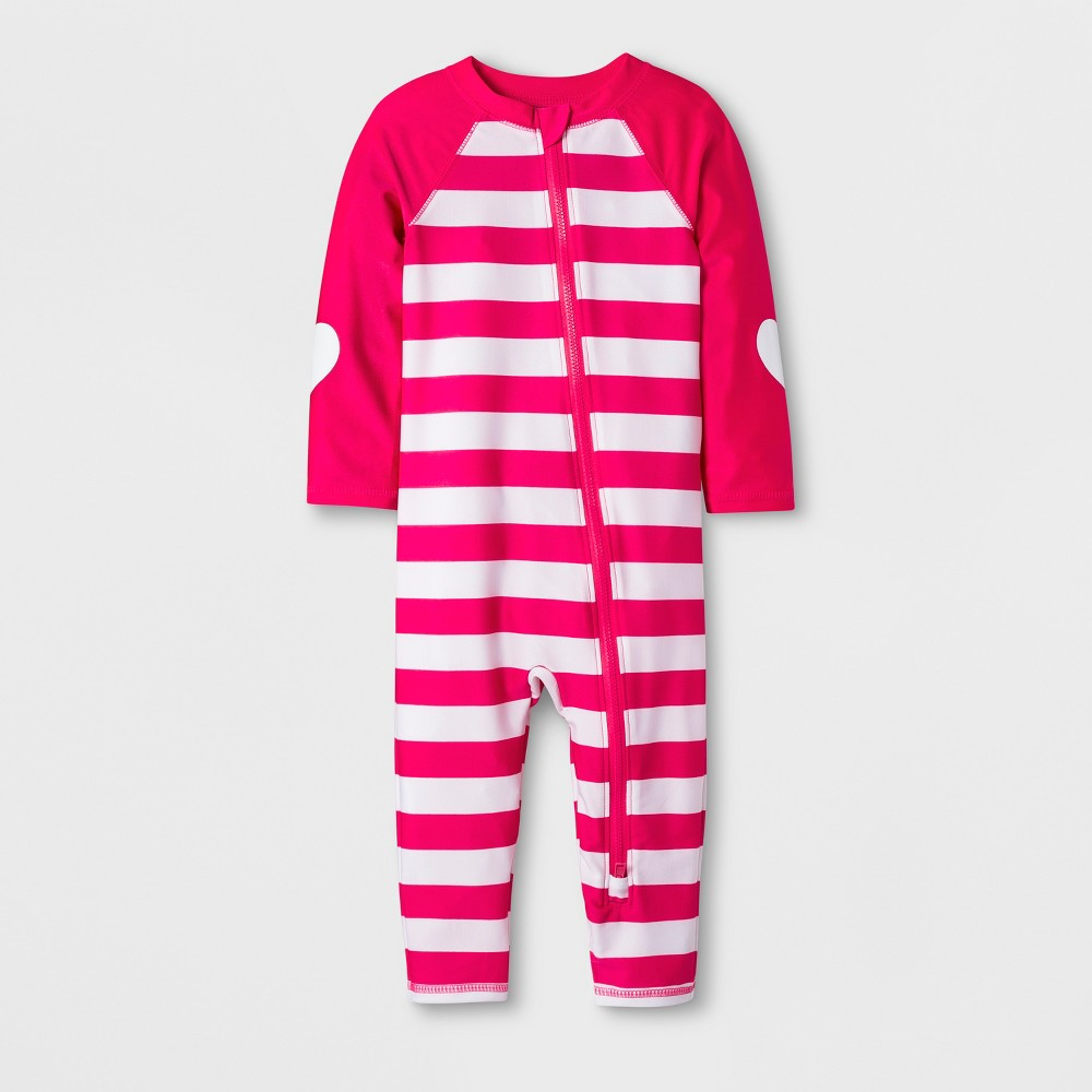 Baby Girls' Swim Full Bodysuit - Cat & Jack Pink 18M