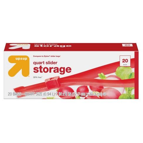 Slider Quart Storage Bag - 20ct - Up&Up™ - image 1 of 3
