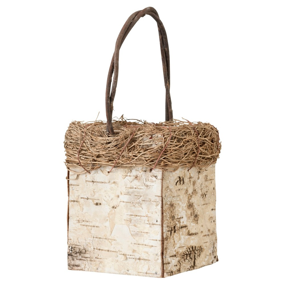 Birch Flower Girl Basket, Natural