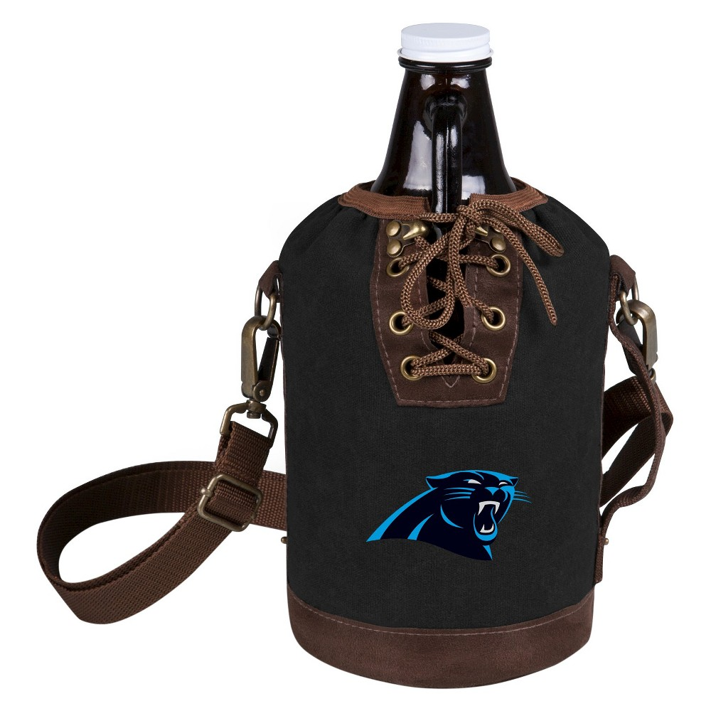 Growler Tote with Growler - Carolina Panthers (Black)-Digital Print