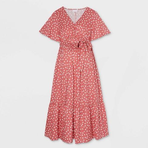 Flutter Short Sleeve Woven Maternity Dress - Isabel Maternity by Ingrid & Isabel™ - image 1 of 2
