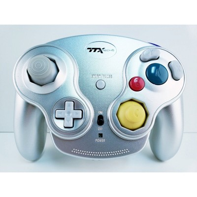 TTX Tech GC Wireless Wavedash 2.4GHZ Controller Gamepad Compatible with Nintendo GameCube - Silver