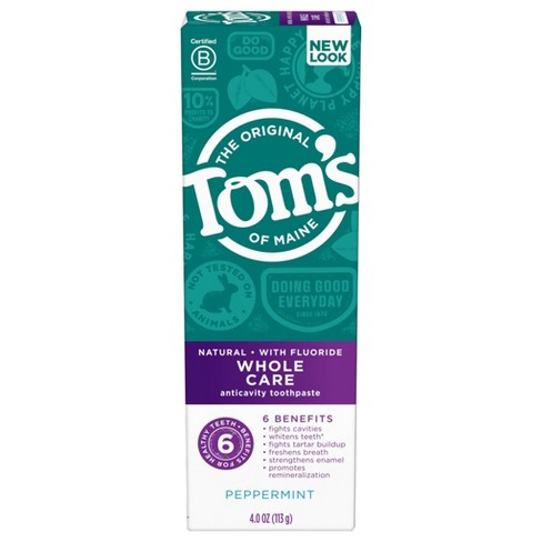 Tom's of Maine Whole Care Peppermint - 4oz - image 1 of 4
