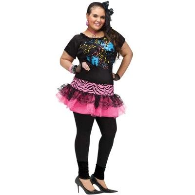 Fun World 80's Pop Party Plus Size Costume