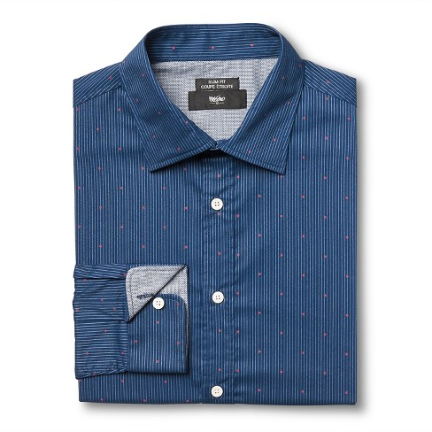 Men's S Slim Fit Dress Shirt Blue - Mossimo™ - image 1 of 3