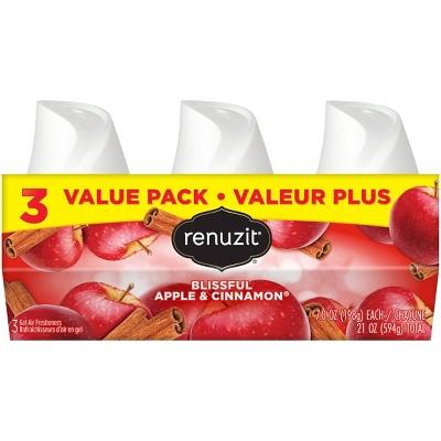 Renuzit Gel Air Freshener - Blissful Apple and Cinnamon - 7oz/3ct