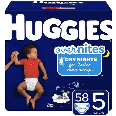 Huggies OverNites Diapers - Size 5 (58ct)